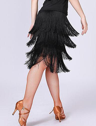 levne Shall We®-Latinské tance Spodní část oděvu Dámské Trénink / Výkon Polyester / Spandex Třásně Vysoký Sukně
