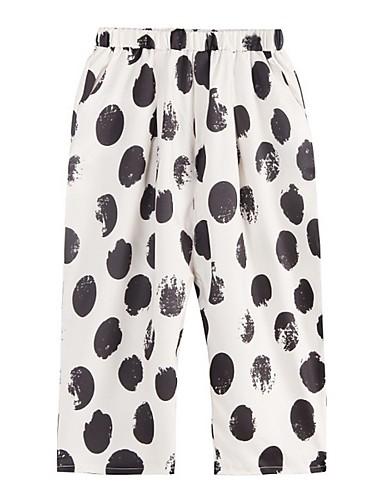 preiswerte Hosen & Röcke für Damen-Damen Grundlegend Breites Bein Hose - Punkt Beige L XL