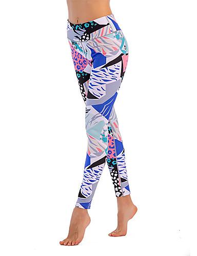 povoljno Odjeća za fitness, trčanje i jogu-Žene Hlače za jogu Geometrija Fitness Trening u teretani Biciklizam Hulahopke Odjeća za rekreaciju Prozračnost Ovlaživanje Quick dry Izzadás-elvezető Rastezljivo Slim