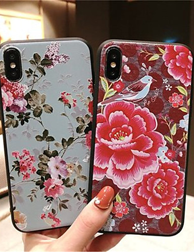 Case สำหรับ Apple iPhone XS / iPhone XR / iPhone XS Max Frosted ปกหลัง ดอกไม้ Soft TPU