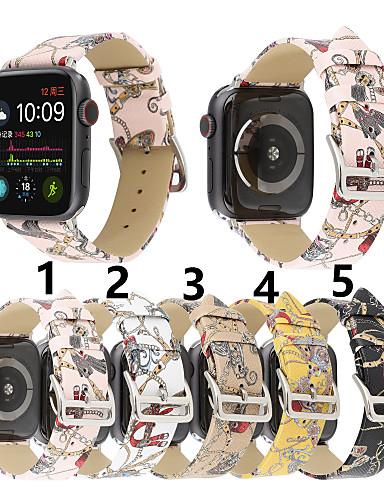 สายนาฬิกา สำหรับ Apple Watch Series 5/4/3/2/1 Apple หัวกลัดแบบคลาสสิก หนังแท้ สายห้อยข้อมือ