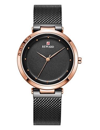 f6b3c07ec03d Mujer Relojes Quartz Moda Minimalista Negro Azul Plata Acero Inoxidable  Chino Cuarzo Negro Plata Morado Resistente al Agua Noctilucente Reloj Casual  30 m ...