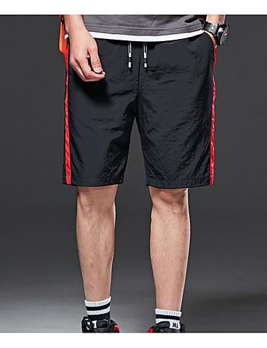 สำหรับผู้ชาย พื้นฐาน กางเกงขาสั้น กางเกง - หลายสี สีดำ ทับทิม สีเหลือง XXL XXXL XXXXL