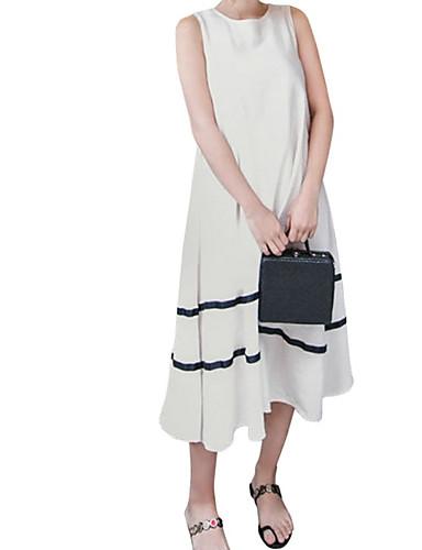 voordelige Maxi-jurken-Dames Recht Jurk - Effen Maxi