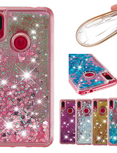 a7a9e2413e [$8.99] Case For Xiaomi Xiaomi Redmi Note 6 / Xiaomi Redmi Note 7 Flowing  Liquid / Glitter Shine Back Cover Solid Colored / Glitter Shine Soft TPU  for ...