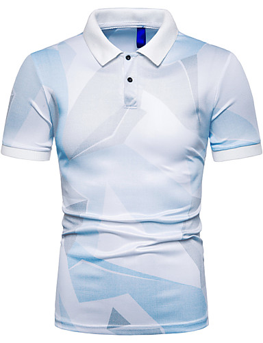 levne Pánská polo trika-Pánské - 3D EU / US velikost Polo, Tisk Košilový límec Štíhlý Šedá
