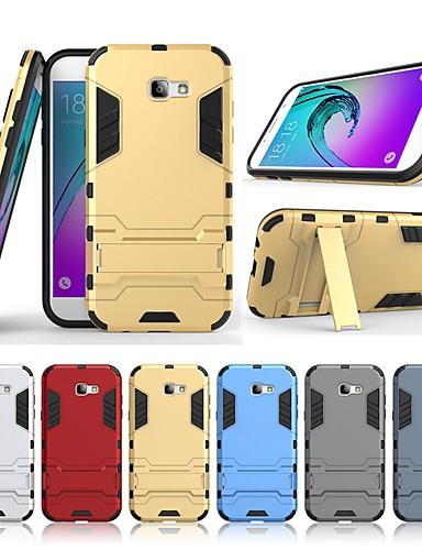 Case สำหรับ Samsung Galaxy A7 (2017) Shockproof / with Stand ปกหลัง สีพื้น / เกราะ Hard พีซี