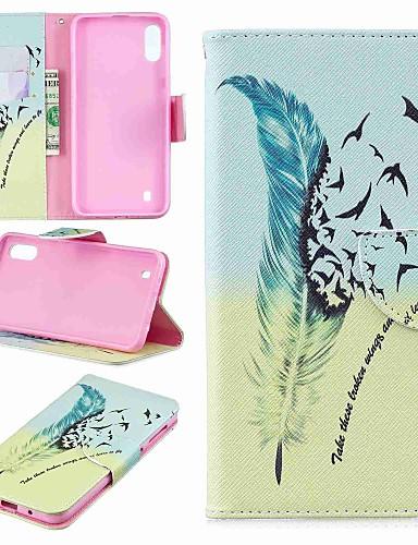 Case สำหรับ Samsung Galaxy J6 (2018) / J6 Plus / J4 (2018) Wallet / Card Holder / Flip ตัวกระเป๋าเต็ม ขนนก Hard หนัง PU