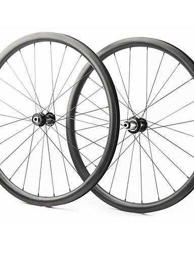 preiswerte Fahrrad-Räder-FARSPORTS 700CC Radsätzen Radsport 28 mm Rennrad Kohlefaser Trumpf / Schlauchlos Kompatibel 24/24 Speichen Andere / 30 mm