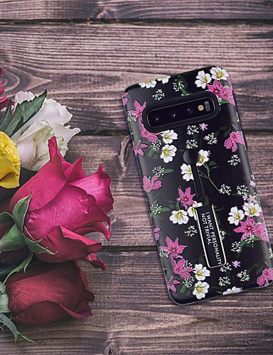 Case สำหรับ Samsung Galaxy Galaxy S10 / Galaxy S10 Plus Pattern ปกหลัง ดอกไม้ Soft TPU
