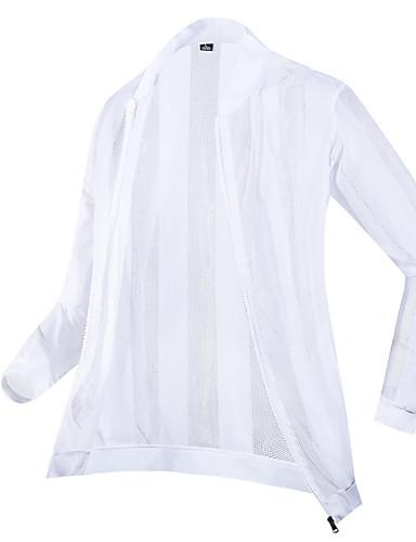 levne Pánská saka a kabáty-Pánské Denní Léto Větší velikosti Standardní Bunda, Jednobarevné Stojáček Dlouhý rukáv Polyester Bílá / Černá
