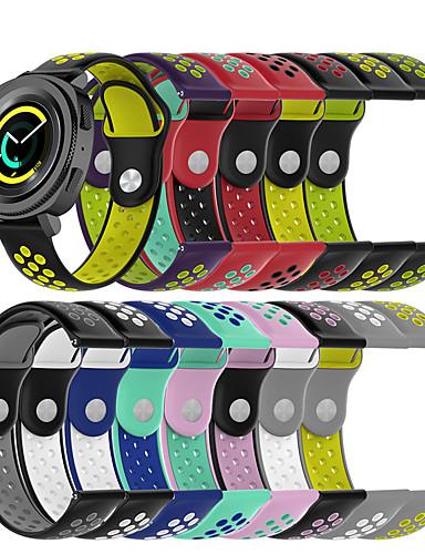 สายนาฬิกา สำหรับ Gear Sport / Gear S2 Classic Samsung Galaxy สายยางสำหรับเส้นกีฬา ยางทำจากซิลิคอน สายห้อยข้อมือ
