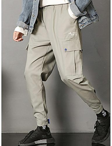 สำหรับผู้ชาย พื้นฐาน ฮาเร็ม กางเกง - สีพื้น สีดำ สีเทา XL XXL XXXL