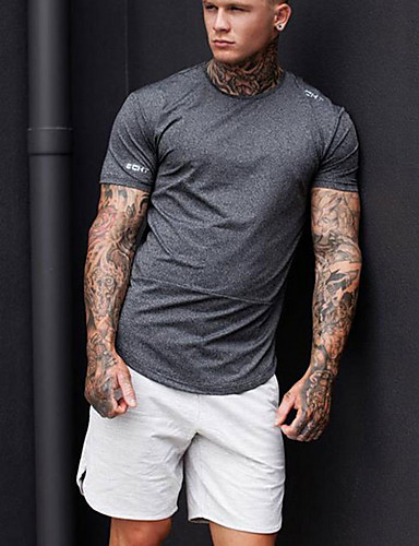 สำหรับผู้ชาย พื้นฐาน กางเกงขาสั้น กางเกง - สีพื้น สีดำ เทาเข้ม สีเทา L XL XXL