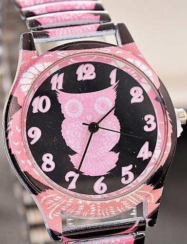 สำหรับผู้หญิง นาฬิกาควอตส์ นาฬิกาอิเล็กทรอนิกส์ (Quartz) ลายสัตว์ต่างๆ สแตนเลส ดำ / สีชมพู น่ารัก นาฬิกาใส่ลำลอง ระบบอนาล็อก แฟชั่น - สีดำ สีแดงชมพู Peach หนึ่งปี อายุการใช้งานแบตเตอรี่