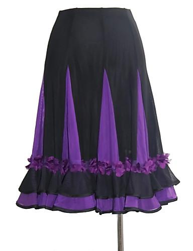 cheap Ballroom Dancewear-Ballroom Dance Skirts Sashes / Ribbons Split Joint Gore Women's Training Performance Natural Mesh Tulle