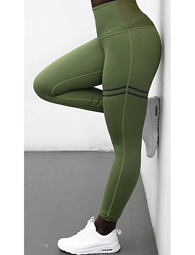 preiswerte Röcke & Hosen-Damen Sportlich Legging - Solide Hohe Taillenlinie Grün Schwarz Rote M L XL / Schlank