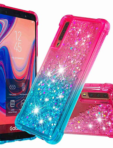 Case สำหรับ Samsung Galaxy Galaxy A7(2018) / Galaxy A9 (2018) / Galaxy A10 (2019) Shockproof / Flowing Liquid ปกหลัง Glitter Shine / Color Gradient Soft TPU