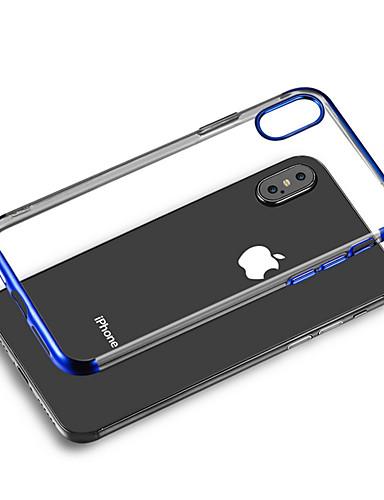 Case สำหรับ Apple iPhone XS / iPhone XR / iPhone XS Max Plating ปกหลัง โปร่งใส Soft TPU
