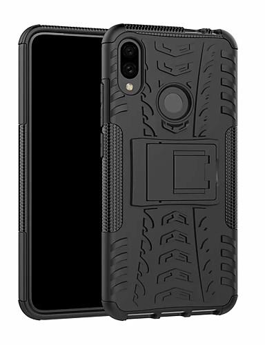 Case สำหรับ Xiaomi Xiaomi Redmi Note 7 / Xiaomi Redmi Note 7 Pro Shockproof / with Stand ปกหลัง สีพื้น Hard พลาสติก