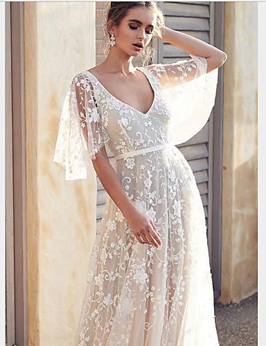 levne Maxi šaty-Dámské Šifón Šaty - Jednobarevné Maxi
