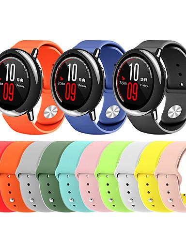 สายนาฬิกา สำหรับ Huami Amazfit A1602 / นาฬิกา Huami Amazfit Pace / Huami Amazfit Stratos Smart Watch 2/2S Xiaomi สายยางสำหรับเส้นกีฬา ยางทำจากซิลิคอน สายห้อยข้อมือ