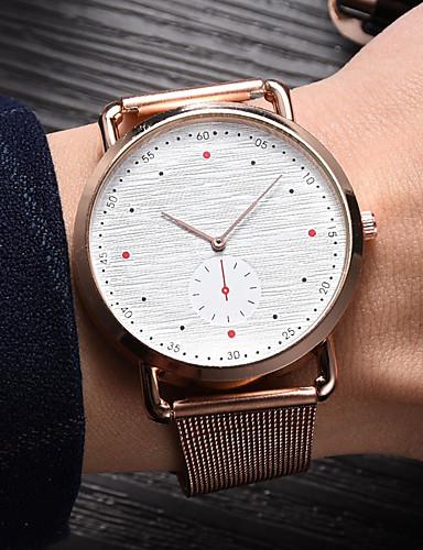 สำหรับผู้หญิง นาฬิกาควอตส์ นาฬิกาอิเล็กทรอนิกส์ (Quartz) สไตล์ ดำ / เงิน / Rose Gold ดีไซน์มาใหม่ นาฬิกาใส่ลำลอง ระบบอนาล็อก ไม่เป็นทางการ แฟชั่น - สีดำ สีเงิน ทองกุหลาบ หนึ่งปี อายุการใช้งานแบตเตอรี่