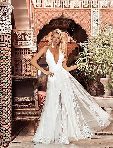 levne Maxi šaty-dámské koleno swing šaty bílé s m l xl