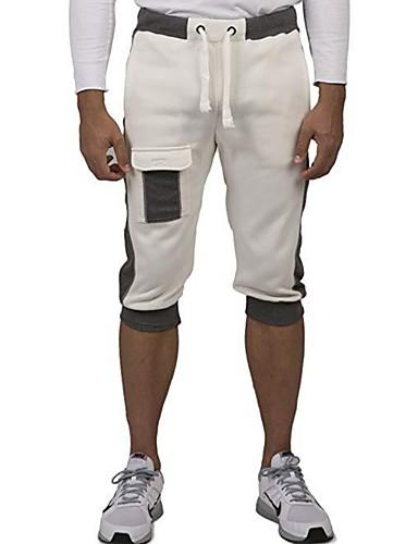 สำหรับผู้ชาย พื้นฐาน เพรียวบาง กางเกงขาสั้น กางเกง - สีพื้น ขาว สีดำ สีเทา XL XXL XXXL