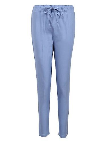 preiswerte Hosen & Röcke für Damen-Damen Grundlegend Übergrössen Chinos Hose - Solide Grün Schwarz Beige XXXL XXXXL XXXXXL