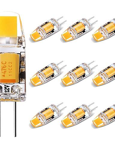 preiswerte LED-Lichter-10 Stück 1.5 W LED Doppel-Pin Leuchten 150 lm G4 1 LED-Perlen COB lieblich Warmes Weiß 12 V