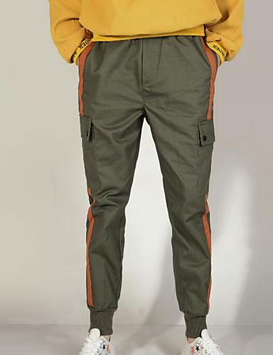 สำหรับผู้ชาย พื้นฐาน กางเกง Chinos กางเกง - สีพื้น สีดำ อาร์มี่ กรีน XXXL XXXXL XXXXXL