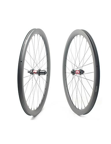 preiswerte Fahrrad-Räder-FARSPORTS 700CC Radsätzen Radsport 30 mm Rennrad Kohlefaser Trumpf / Schlauchlos Kompatibel 28/28 Speichen 40 mm