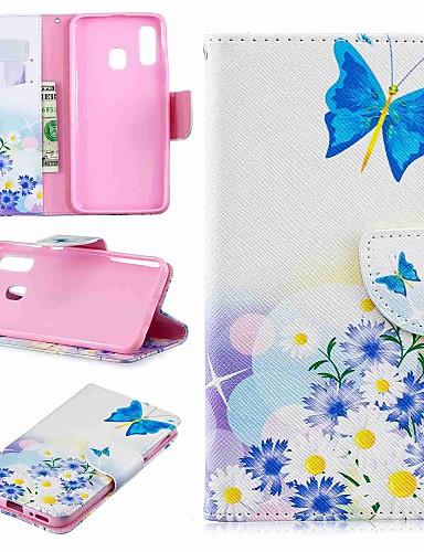 Case สำหรับ Samsung Galaxy A6 (2018) / A6+ (2018) / Galaxy A7(2018) Wallet / Card Holder / with Stand ตัวกระเป๋าเต็ม Butterfly / การ์ตูน Hard หนัง PU