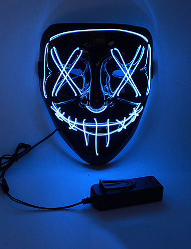 cheap Halloween & Carnival Costumes-LED Halloween Mask Inspired by Purge White Orange LED Light Up Halloween Adults' Men's Women's