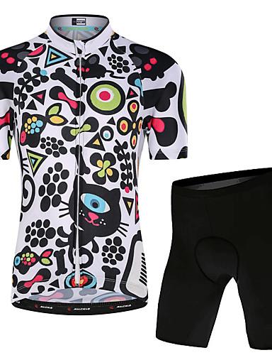 povoljno Biciklizam-Malciklo Dječaci Djevojčice Kratkih rukava Biciklistička majica s kratkim hlačama - Dječji Obala Cvjetni / Botanički Bicikl Sportska odijela UV otporan Prozračnost Ovlaživanje Quick dry / Rastezljivo