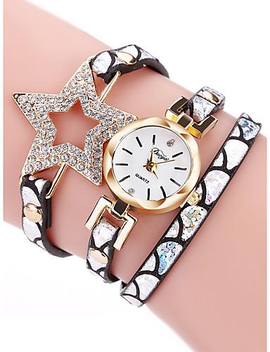 สำหรับผู้หญิง นาฬิกาควอตส์ นาฬิกาอิเล็กทรอนิกส์ (Quartz) สไตล์ ถัก PU Leather ดำ / ฟ้า / เงิน 30 m กันน้ำ น่ารัก นาฬิกาใส่ลำลอง ระบบอนาล็อก คลาสสิก แฟชั่น - สีเงิน ทับทิม กุหลาบแดง / หนึ่งปี