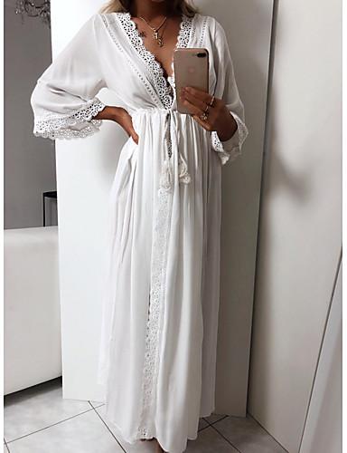 levne Maxi šaty-Dámské Plážové Sexy Štíhlý A Line Šaty Maxi
