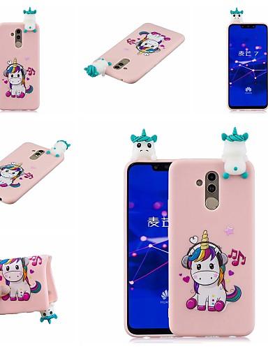 Case สำหรับ Huawei Huawei Honor 9 Lite / Huawei Honor 8X / Honor 7A Pattern ปกหลัง สัตว์ / การ์ตูน Soft TPU