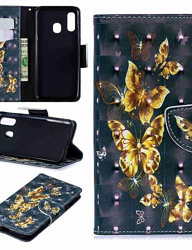 Case สำหรับ Samsung Galaxy A6 (2018) / A6+ (2018) / Galaxy A7(2018) Wallet / Card Holder / with Stand ตัวกระเป๋าเต็ม Butterfly Hard หนัง PU