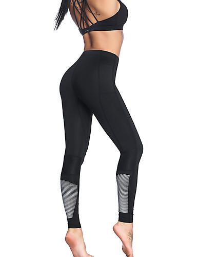 preiswerte Fitness, Laufen & Yoga-Bekleidung-Damen Hohe Hüfthöhe Yoga-Hose Modisch Laufen Fitness Fitnesstraining Strumpfhosen / Lange Radhose Sportkleidung Leicht Atmungsaktiv Feuchtigkeitsabsorbierend Rasche Trocknung Hochelastisch Schlank