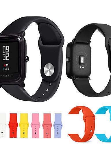 สายนาฬิกา สำหรับ Huami Amazfit Bip Younth Watch Xiaomi สายยางสำหรับเส้นกีฬา ยางทำจากซิลิคอน สายห้อยข้อมือ