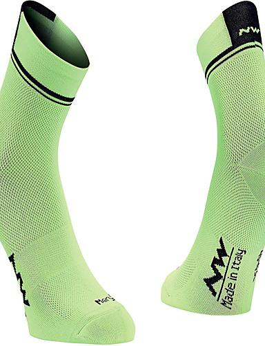 povoljno Odjeća za vožnju biciklom-Muškarci Žene Sport čarape / atletske čarape Biciklističke čarape Kompresija Čarape Prozračnost Udobnost Crn Forest Green Red / White Pamuk Cestovni bicikl Mountain Bike Trčanje Rastezljivo