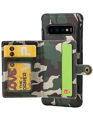 Case สำหรับ Samsung Galaxy S9 / S9 Plus / S8 Plus Wallet / Card Holder / Shockproof ปกหลัง Lines / Waves Hard หนัง PU / TPU