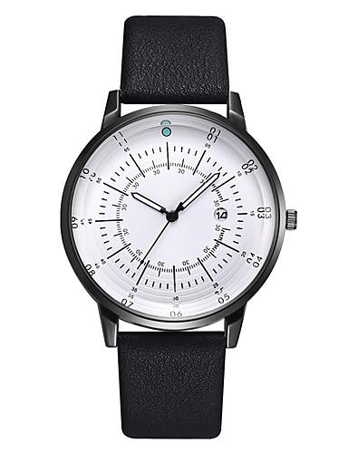 สำหรับผู้ชาย นาฬิกาแนวสปอร์ต นาฬิกาอิเล็กทรอนิกส์ (Quartz) หนัง ดำ / ฟ้า / น้ำตาล 30 m โครโนกราฟ Creative ดีไซน์มาใหม่ ระบบอนาล็อก มาใหม่ แฟชั่น - สีดำและสีขาว สีฟ้า สีกากี / สองปี