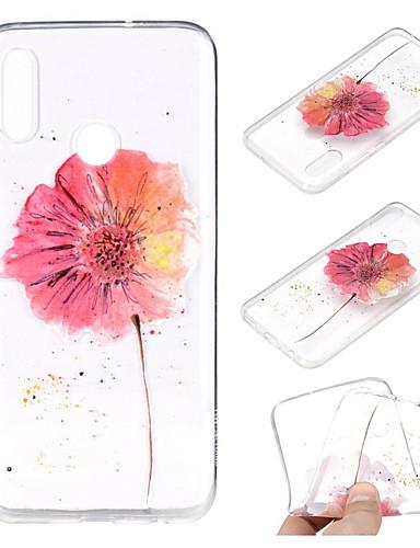 Case สำหรับ Huawei Huawei Nova 3i / หัวเว่ยโนวา 4 / Huawei Note 10 Transparent / Pattern ปกหลัง ดอกไม้ Soft TPU