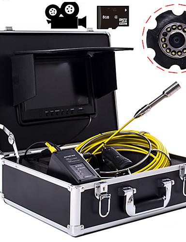 preiswerte Schutz & Sicherheit-Industrielles Endoskop mit 23-mm-Objektiv, 20 m Arbeitslänge, 9-Zoll-Display mit Videokamera-Funktion zur Reparatur von Autoreparaturen