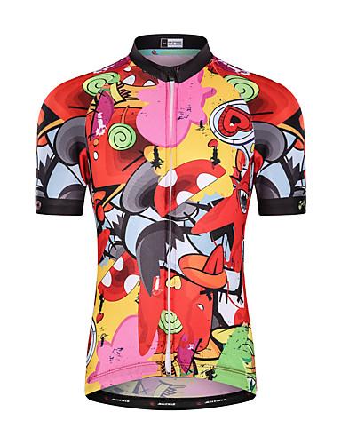 cheap Cycling-Malciklo Boys' Girls' Short Sleeve Cycling Jersey - Kid's Summer Red Cartoon Animal Bike Top Mountain Bike MTB Road Bike Cycling UV Resistant Quick Dry Moisture Wicking Sports Clothing Apparel