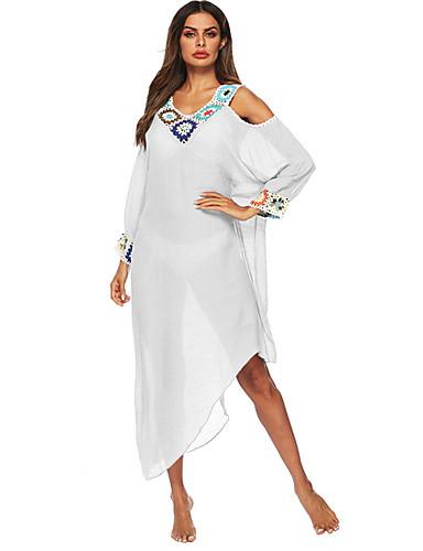 femme bleu blanc noir v tement couvrant maillots de bain. Black Bedroom Furniture Sets. Home Design Ideas