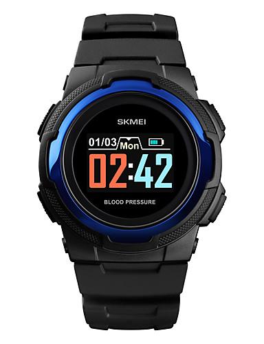 SKMEI สำหรับผู้ชาย นาฬิกาทหาร ดิจิตอล ยางทำจากซิลิคอน ดำ / เขียว 30 m Military Bluetooth Smart ดิจิตอล ภายนอก แฟชั่น - สีดำ สีเขียว ฟ้า หนึ่งปี อายุการใช้งานแบตเตอรี่